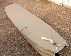 Khaki Canvas Surfboard Bag Board Bag Surfboard by theAtlanticOcean