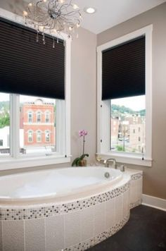 Contemporary bathroom remodel by @Ivor Tillier, LLC using blacks and whites and textures throughout. #housetrends #notion #pittsburgh