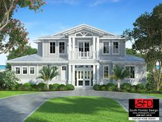 Waterside 2-Story Coastal House Plan The Waterside 2-story coastal house plan features 4 bedrooms, 4.5 baths and a 3 car rear entry garage. Main floor com