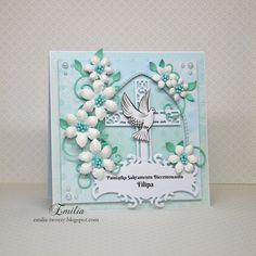 Emilia tworzy: Kartka na bierzmowanie/Card for confirmation Confirmation, Frame, Cards, Design, Paper, Picture Frame, Maps, Frames