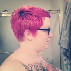 nearsightedowl:    From the side. One of my best home haircuts yet! #fat #pixie (Taken with Instagram)