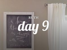 Day 9 of the study of Ruth from the devotional community She Reads Truth | Waiting as Obedience