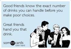 Funny ecard - Good vs great friends - http://www.jokideo.com/funny-ecard-good-vs-great-friends/