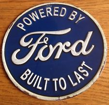 Powered By Ford Built To Last Round Sign Ford Motor Company Free Shipping