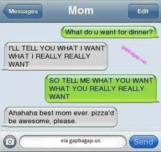 """Except it would not say mom it would say """"daughter"""" for the contact name"""