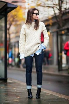 Brilliant Sweater Outfit Ideas We Found On Pinterest via @WhoWhatWear