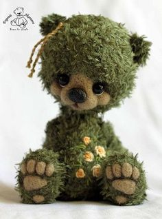Discover thousands of images about EPBOT: These 20 Adorable Art Plushies Will Make You Melt Crochet Teddy, Crochet Bear, Crochet Toys, Teddy Toys, Love Bear, Bear Doll, Cute Bears, Soft Sculpture, Fabric Dolls