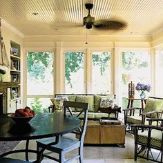 Open Air Porch - Screens Panels switch out to glass in the winter) Love this room.
