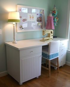 Ikea desk - E's room