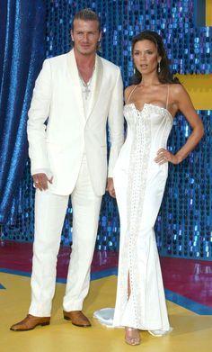 Momentos más memorables de los MTV Movie Awards: Los trajes blancos y combinados de Victoria y David Beckham en el evento del 2003