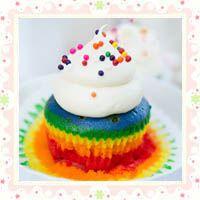 Technicolor cupcakes!
