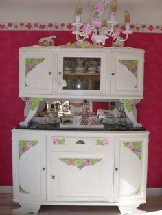 bahut en noyer ancien relook patin blanc henri 2 pinterest bahut style proven al et. Black Bedroom Furniture Sets. Home Design Ideas