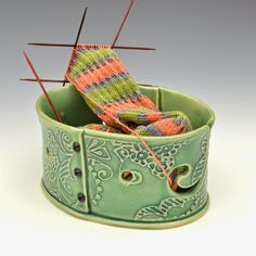 Creative with clay: Pottery by Charan Sachar: Yarn bowls... This was expected