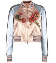 Pin for Later: The Piece That's Starting a Street Style Obsession Valentino mytheresa.com online exclusive embellished satin bomber jacket ($6,790)