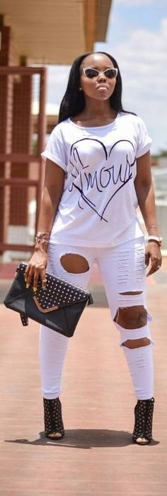 It's official. .I love black and white /   Fashion Look by  by_teelokwae
