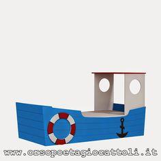 """#Lettino barca """"Oceanic"""", perfetto per tutti i piccoli esploratori dei mari!  http://www.orsopoetagiocattoli.it/catalogo/Lettino-Barca-Oceanic--1140"""