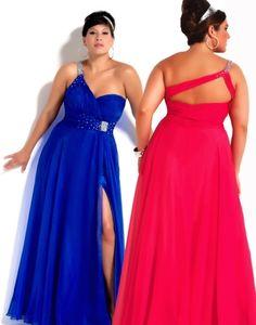 Plus Size Prom Dresses, 2012 Cheap Empire One-shoulder Neck Floor-length Prom Dresses Style6246K, prom dress