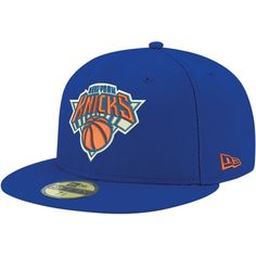 New Era Men's New York Knicks 59Fifty Royal Fitted Hat, Size: 7 1/2, Team