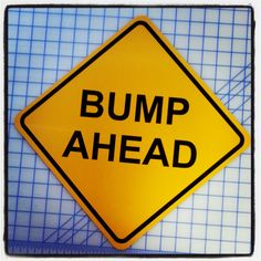 Bump Ahead Pregnancy Announcement Sign by 734designs on Etsy, $14.99