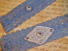 Bridal Garter Set A Little Bit of Blue with by DESIGNERSHINDIGS, $24.00