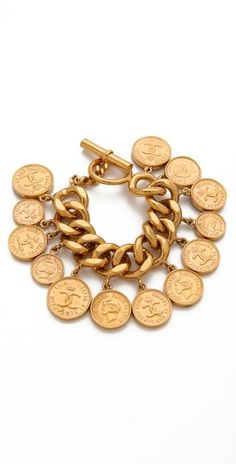 Vintage chanel coin bracelet.  I made one with the coins I collected n my first trip to Europe (pre-EURO)