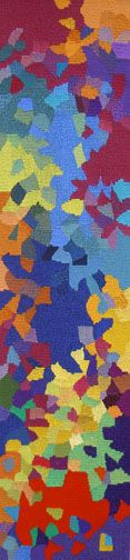 """Line Dufour (Canada), """"Joy,"""" 60"""" x 15"""" woven tapestry, ATB 8"""