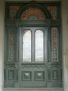 Beautiful entrance door with leadlight windows & Magnificent Obsession | Upper east side Vestibule and Chandeliers