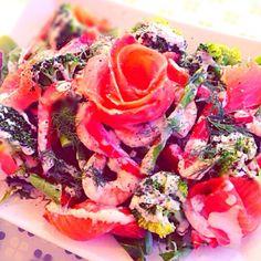 レモンクリームと香草(ディル)が魚介に合います♪ - 17件のもぐもぐ - 彩り野菜と魚介のサラダ〜レモンクリーム〜 by akira045life