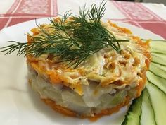 Рыбный салат - Простые рецепты Овкусе.ру