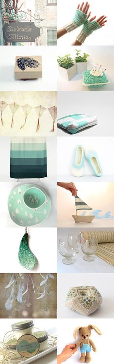 Mint by Asta on Etsy--Pinned with TreasuryPin.com #annehermine #cosmeticbag #upcycled