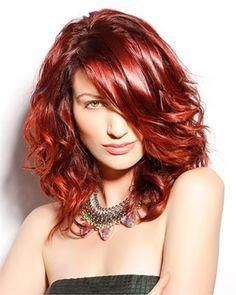 Half lang rood haar