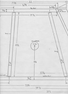 Hammered Dulcimer 12//11 construction  Plans   actual size Full scale   detaile
