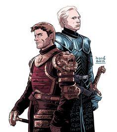 Jaime Lannister & Brienne of Tarth - Game of Thrones Game Of Thrones Brienne, Game Of Thrones Westeros, Arte Game Of Thrones, Brienne Of Tarth, Game Of Thrones Books, Lady Brienne, Jaime Lannister, Cersei Lannister, Live Action