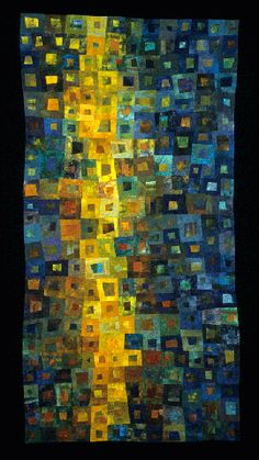 """Underwater Reflection"" love the name of this quilt - it's like you're looking at a shaft of light in the ocean."