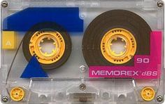 cassettes - this was my favorite brand because they were so colorful!