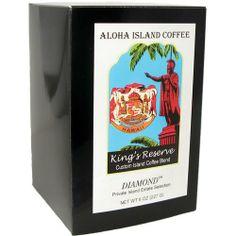 Aloha Island Kona Smooth DIAMOND Kings Reserve Hawaiian Blend Coffee Pods, 18 - 10g Coffee Pods - http://thecoffeepod.biz/aloha-island-kona-smooth-diamond-kings-reserve-hawaiian-blend-coffee-pods-18-10g-coffee-pods/