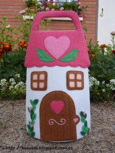 Portable felt house