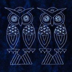 Owl worked in sashiko!!