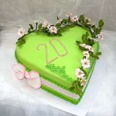 The birthday cake in the heart shape with gentle wild roses (briar) was ordered by brother to his beloved 20 year sister.