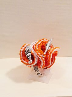 Coral ring, knitted Ring, Unique Statement Ring, Art Jewelry,Huge Ring, Nautical Jewel,Ocean World,Shell Ring,starfish, Knitted jewelry by rutisjewelry on Etsy