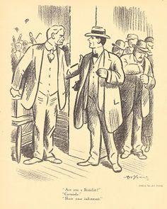 A Man of Family: Liberator Magazine Art, Nov 1918, political cartoon