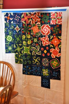 Four patch posie kaleidoscope quilt.