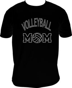 T-shirt Volleyball Mom Volleyball T-shirt Mom by NettieJewels