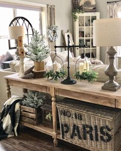 Looking for for images for farmhouse living room? Browse around this website for unique farmhouse living room ideas. This cool farmhouse living room ideas looks absolutely amazing. French Country Living Room, Country Farmhouse Decor, Farmhouse Kitchen Decor, French Country Decorating, Rustic Decor, Modern Farmhouse, Farmhouse Ideas, Farmhouse Style, Console Table Farmhouse