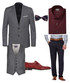 """""""ok"""" by darrick-howard-ii on Polyvore featuring The Kooples, Ted Baker, Haggar, Kenneth Cole Reaction, Santoni, men's fashion and menswear"""