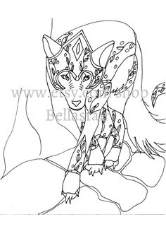 Hand Drawn Mythical Armored Wolf coloring coloring by Bellasfair