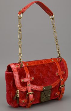 Louis Vuitton Vintage Red Bag #Luxurydotcom
