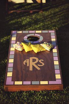 monogrammed cornhole board!