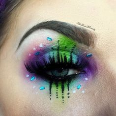 WEBSTA @ thebriabeauty - Another shot of this look using only Sugarpill eyeshadows! ❌Hex❌@sugarpill 2AM, Poison Plum, Acid Berry, Tako and Mochi.@starcrushedminerals Venus and Thalia lashes stacked.@katvondbeauty Ink liner in Trooper and Neruda.@anastasiabeverlyhills dip brow pomade in medium brown.@johnnyconcert gems