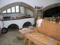 Tudor Kitchen Cowdray Castle inspiration - lots of information on the site well worth a visit if researching Tudor kitchens